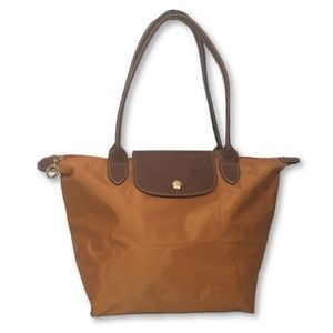 Longchamp Les Pliage Small Shopping Tote in Orange